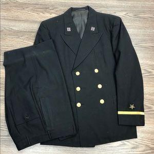 Other - Vintage Black Naval Clothing Suit 38R